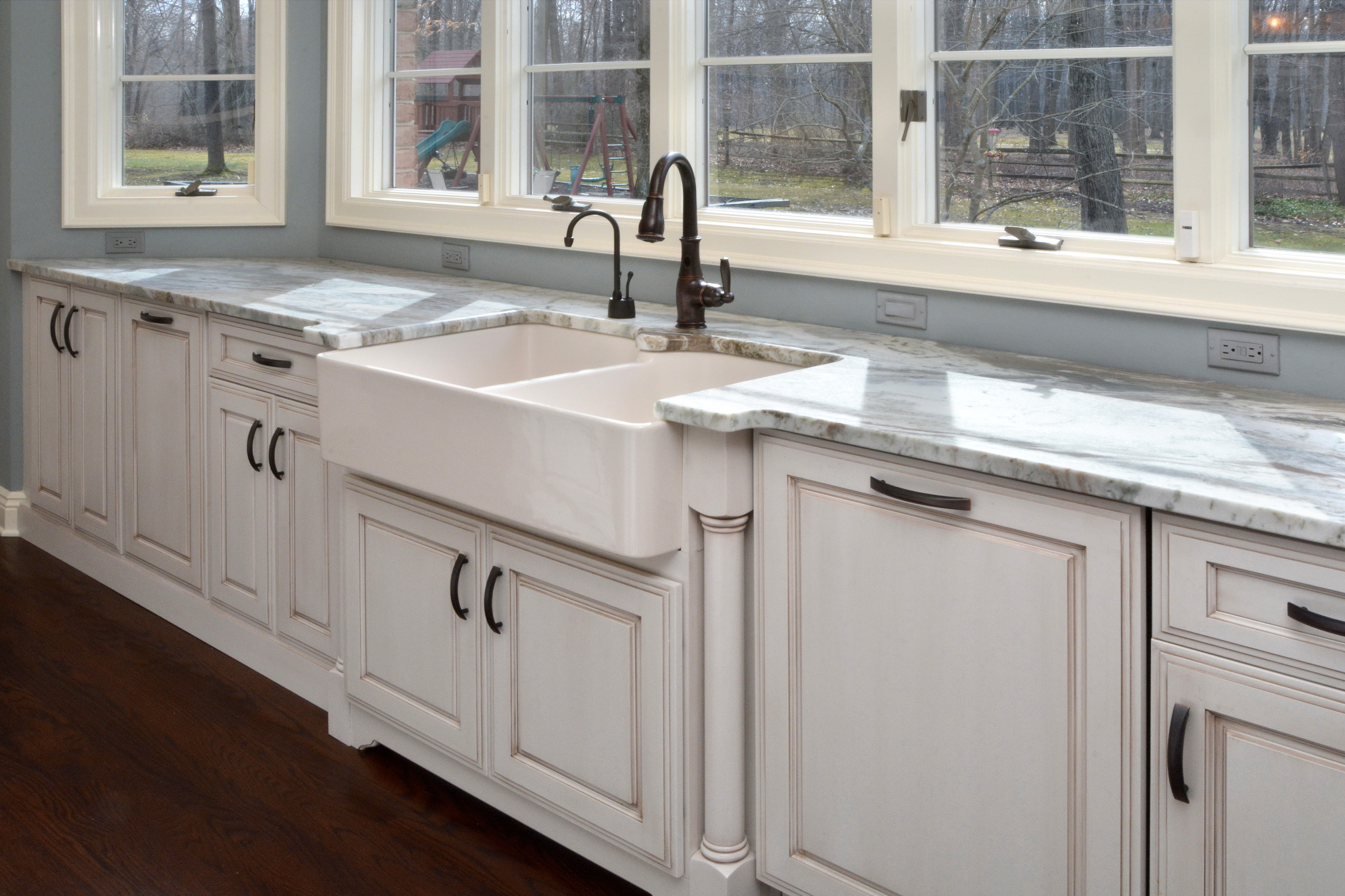 Off White Painted Maple Cabinets
